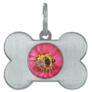 Etiqueta del mascota del abejorro placas de nombre de mascota