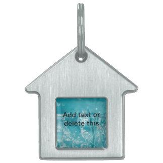 Etiqueta del mascota del agua azul de Torquiose Placas De Mascota
