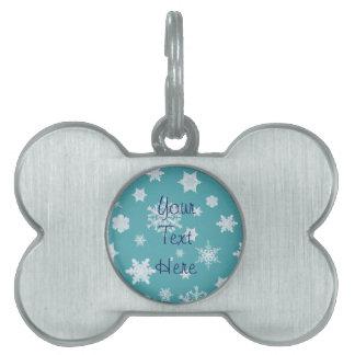 Etiqueta del mascota del día de fiesta del copo de placas mascota