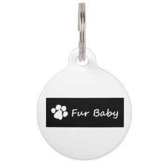 Etiqueta del mascota del diseño del bebé de la pie placas para mascotas
