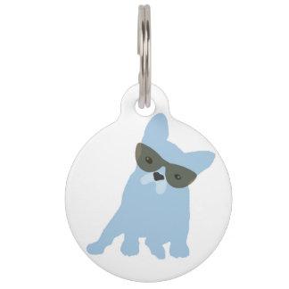 Etiqueta del mascota del dogo francés placas de mascota