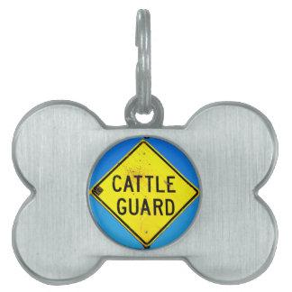 etiqueta del mascota del guardia de ganado placas mascota
