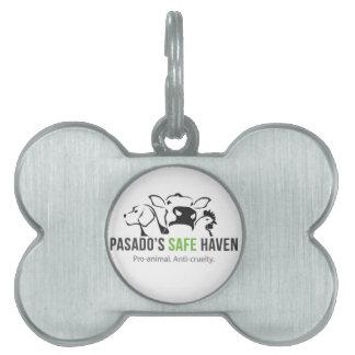 Etiqueta del mascota del logotipo del santuario placas de nombre de mascota