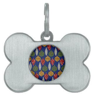 Etiqueta del mascota del navidad placas mascota