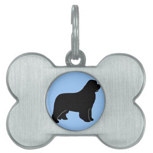Etiqueta del mascota del newf del newfie de Terran Placas Mascota