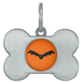 Etiqueta del mascota del palo de Halloween Placas De Mascota