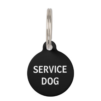 Etiqueta del mascota del perro del servicio identificador para mascotas
