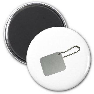 Etiqueta del metal con la cadena imanes de nevera