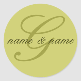 """Etiqueta del monograma de """"G"""" - personalice los"""