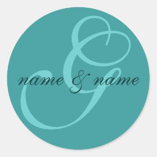Etiqueta del monograma de G - personalice los