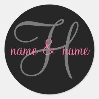 """Etiqueta del monograma de """"H"""" - personalice los"""