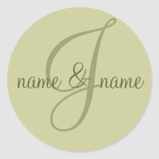 """Etiqueta del monograma de """"J"""" - personalice el"""