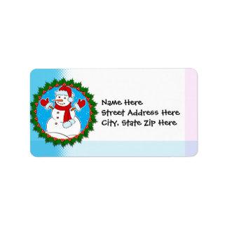 Etiqueta del navidad etiquetas de dirección