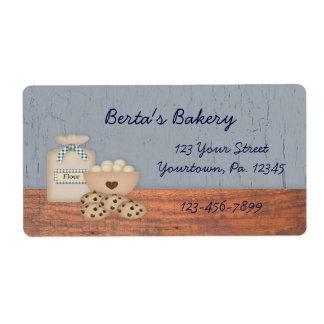 Etiqueta del negocio de la repostería y pastelería etiquetas de envío