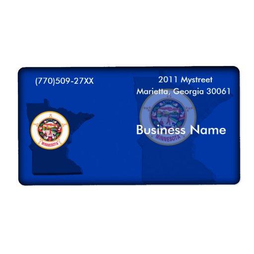 Etiqueta del negocio de Minnesota Etiqueta De Envío