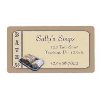 Etiqueta del negocio del jabón del país etiquetas de envío