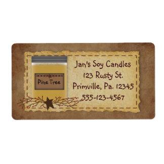 Etiqueta del negocio del olor de la vela del tarro etiquetas de envío