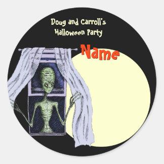 Etiqueta del nombre del fiesta de Halloween - extr