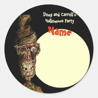 Etiqueta del nombre del fiesta de Halloween -