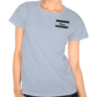 Etiqueta del nombre del miembro de Ofishal del Camiseta