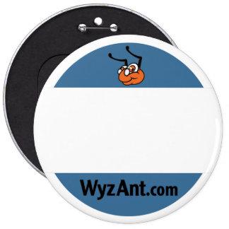 Etiqueta del nombre del profesor particular de Wyz Pin Redondo De 6 Pulgadas