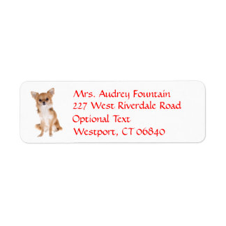 Etiqueta del nombre del remite del perro de etiquetas de remite