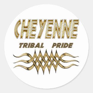 Etiqueta del orgullo de Cheyenne u hoja tribal del
