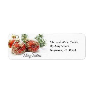 Etiqueta del ornamento del navidad etiqueta de remite