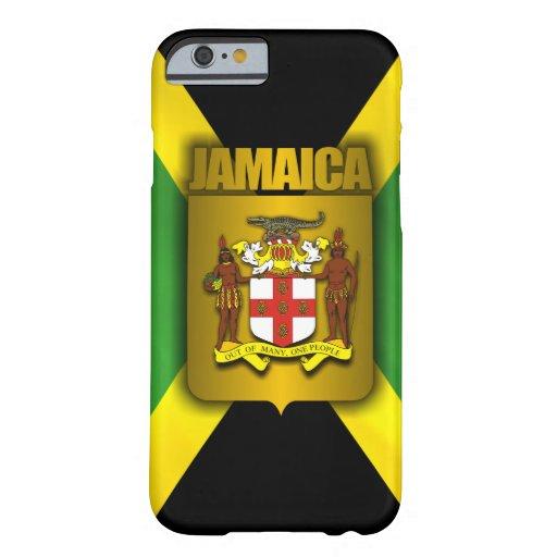 Etiqueta del oro de Jamaica Funda De iPhone 6 Barely There