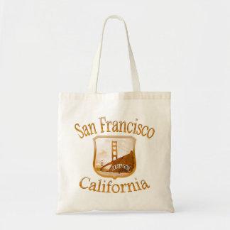 Etiqueta del oro de San Francisco California Bolsa Tela Barata
