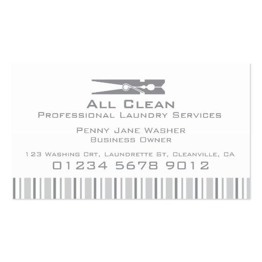 Etiqueta del oscilación del servicio de lavadero/t tarjeta de visita