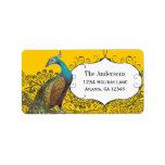 Etiqueta del pájaro del amor de la marina de etiqueta de dirección
