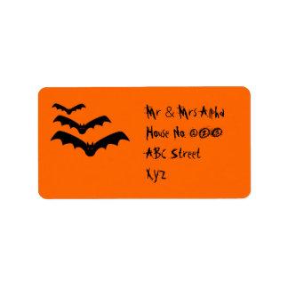 Etiqueta del palo de Halloween Etiquetas De Dirección