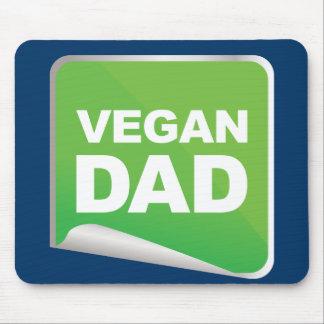 Etiqueta del papá del vegano tapete de raton