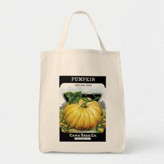 Etiqueta del paquete de la semilla de calabaza bolsa tela para la compra