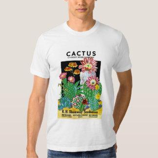 Etiqueta del paquete de la semilla del cactus playeras