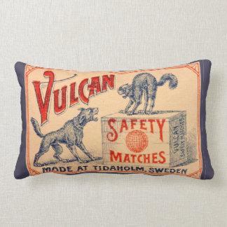 Etiqueta del partido de seguridad de Vulcan del Cojín