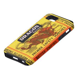 Etiqueta del partido de seguridad del vintage de iPhone 5 carcasas
