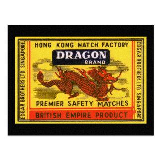 Etiqueta del partido de seguridad del vintage de l tarjetas postales