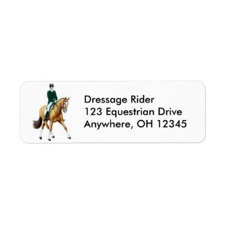 Etiqueta del paso del caballo del Dressage media Etiqueta De Remite