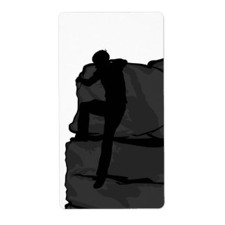 Etiqueta del pegatina de Bouldering del escalador Etiquetas De Envío