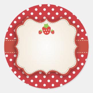 Etiqueta del pegatina de la fresa
