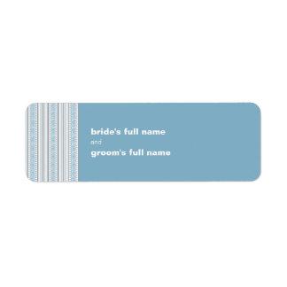 Etiqueta del pegatina de la novia y del novio del etiqueta de remite