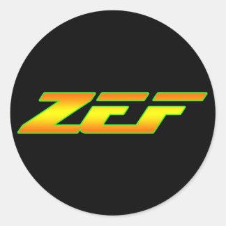 ETIQUETA DEL PEGATINA DE ZEF