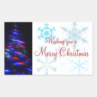 Etiqueta del pegatina del árbol de navidad