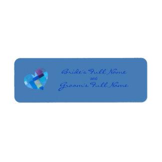 Etiqueta del pegatina del novio de Danubio del Etiquetas De Remite