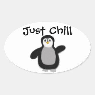 Etiqueta del pegatina del pingüino