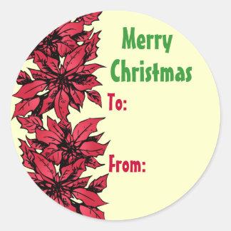Etiqueta del pegatina del regalo del navidad