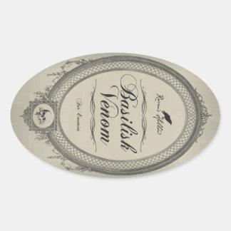 Etiqueta del pegatina del tarro de Halloween del v