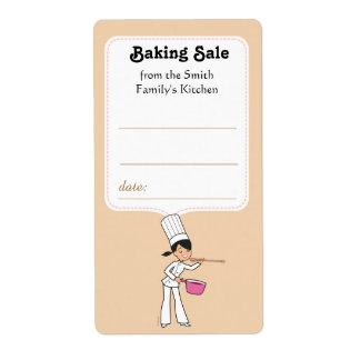 Etiqueta del pegatina para las ventas que cuecen etiqueta de envío